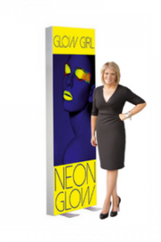 gallery/freestanding lightbox display stand